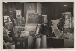 Muuseumi varade ajutine varjupaik ülikooli auditooriumis, 4. veebruar 1943.