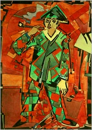 Ado Vabbe 'Arlekiin', akvarell 1924