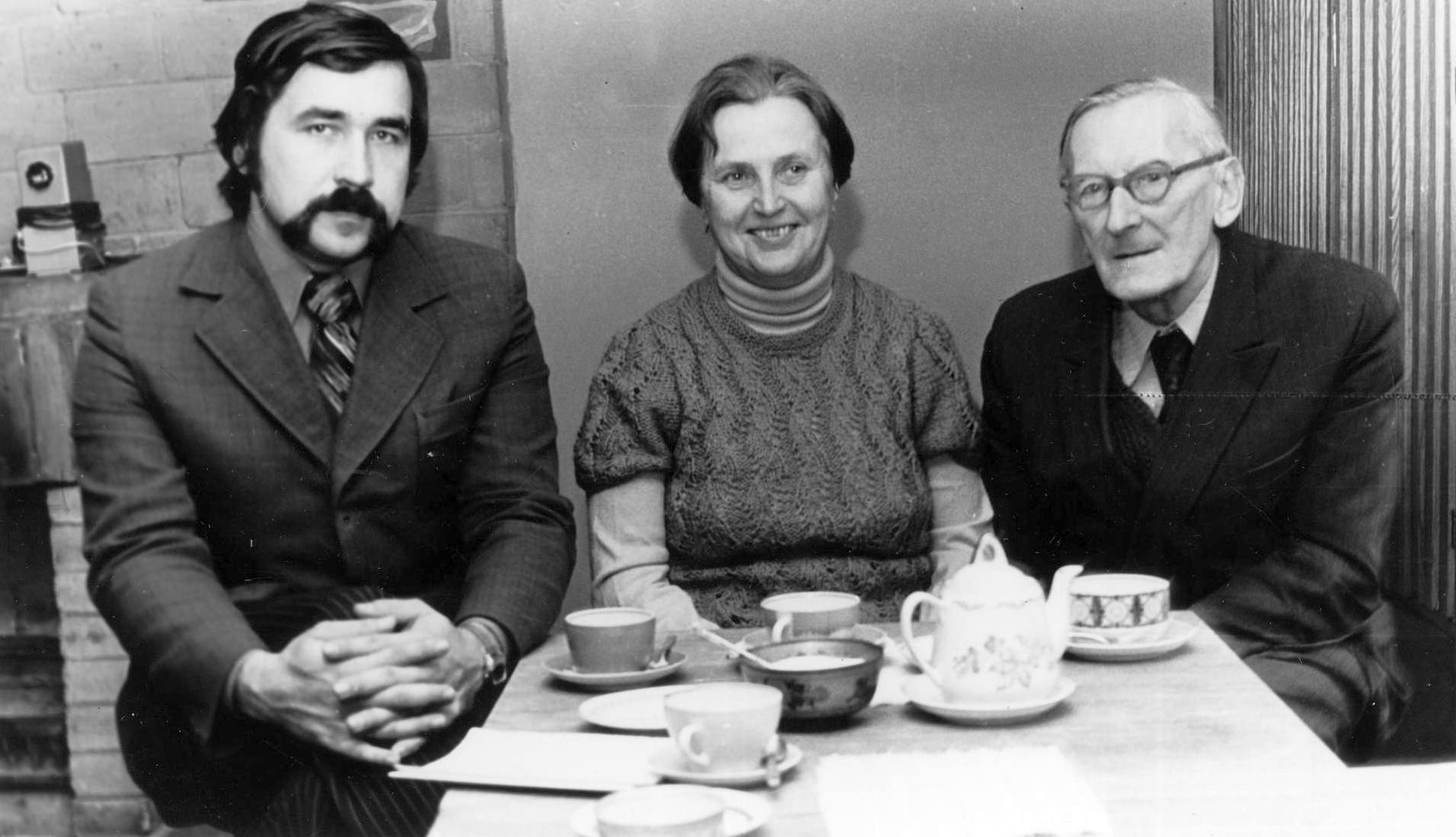 Three directors. Toivo Toomemets, Vaike Tiik and Voldemar Erm.
