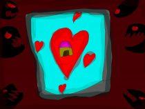 """Andreas Lilleorg, """"Mu kodu on mu süda"""", 10a, Elva Huviala- ja Koolituskeskuse kunstiring, juhendaja Meeta Eliise Veigel"""